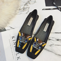2017 Rhinestone Flats Loafers Beading Floral W Shoes Luxury Brand Designer Shoes Women Bottom Flat Heels