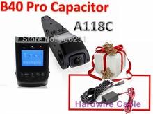 Free Shipping!Blueskysea B40 PRO Capacitor Version A118C Novatek 96650 H.264 HD 1080P Car Dash Camera DVR Optional GPS Module(China (Mainland))