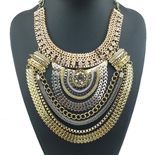 Big Fashion Exaggerated Style Multi ethnic Women s statement necklace Chain Necklace NK104 Evening Dress Jewelry
