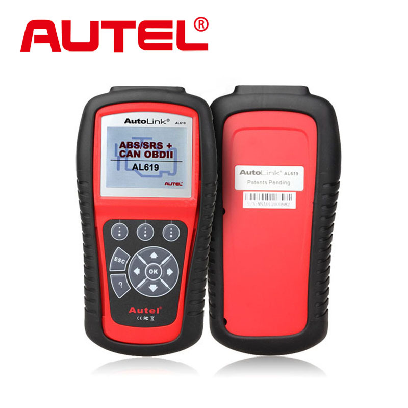 100% Original AUTEL AutoLink AL619 ABS / SRS + OBDII CAN Diagnostic Tool troubleshooter code reader free online update(China (Mainland))