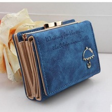 New Brand Designer Women Wallet Bags Best Leather Button Clutch Purse Lady Short Handbag Bag 9 Colors For Woman(China (Mainland))