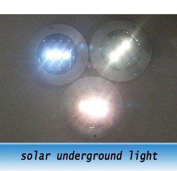 Solar LED Underground Lamp Blue / Warm White 3Leds solar garden light 5pcs
