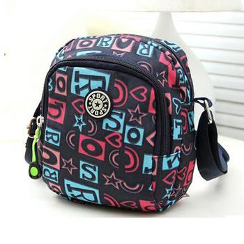 2016 New fashion sports bag Nylon women handbags girl customized travel single shoulder bag women canvas messenger bags