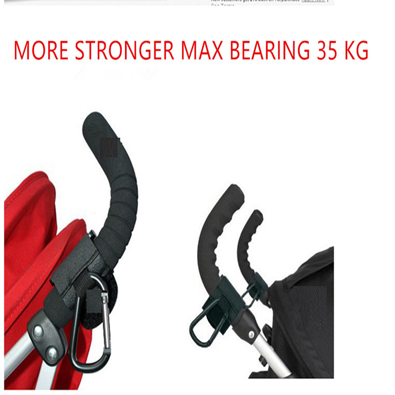 Free Shipping 2pcs Baby Stroller Hook 35KG Stroller Accessories Pram Hooks Hanger for Baby Car Carriage Buggy Material: Plastic(China (Mainland))