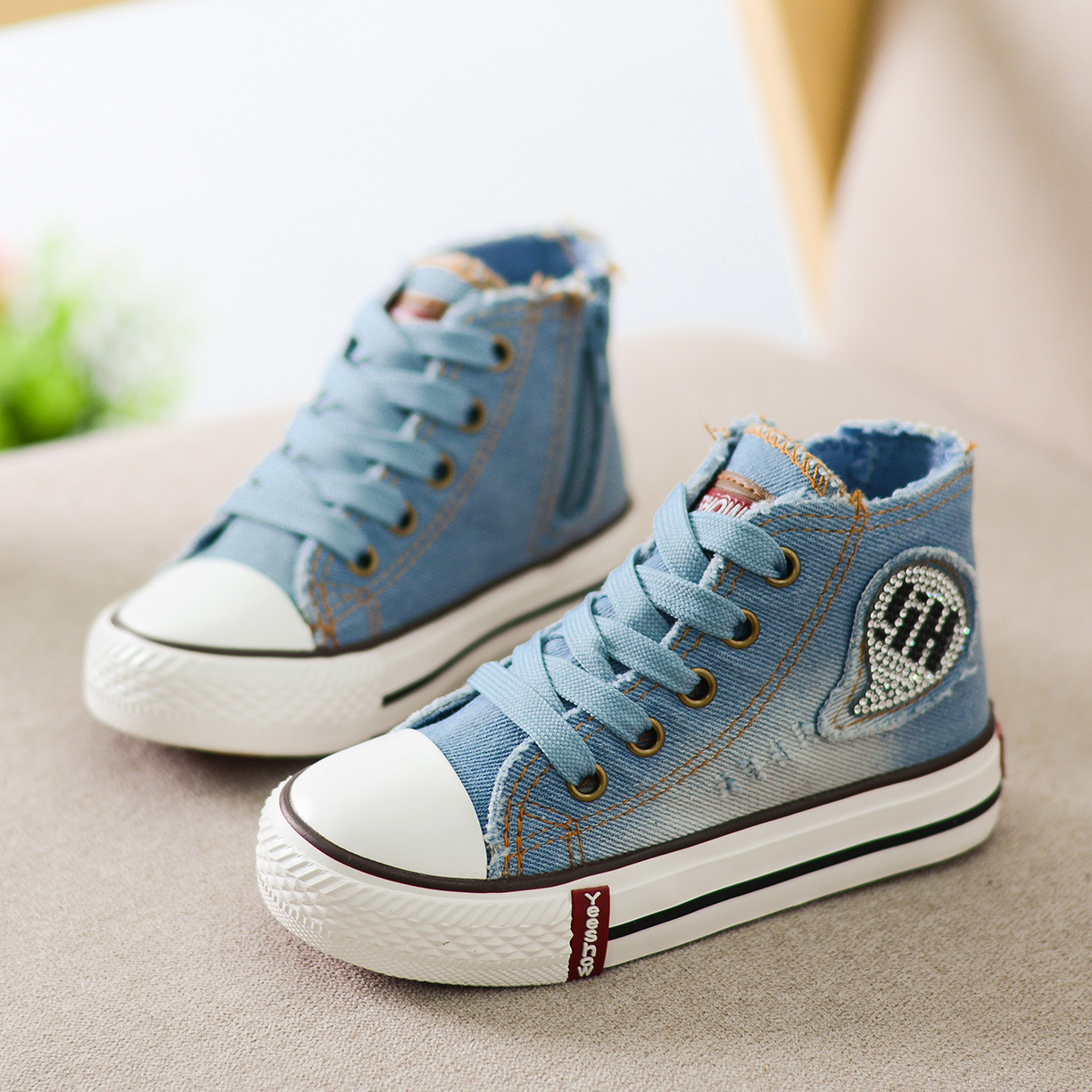 high top children canvas shoes 2016 new arrival