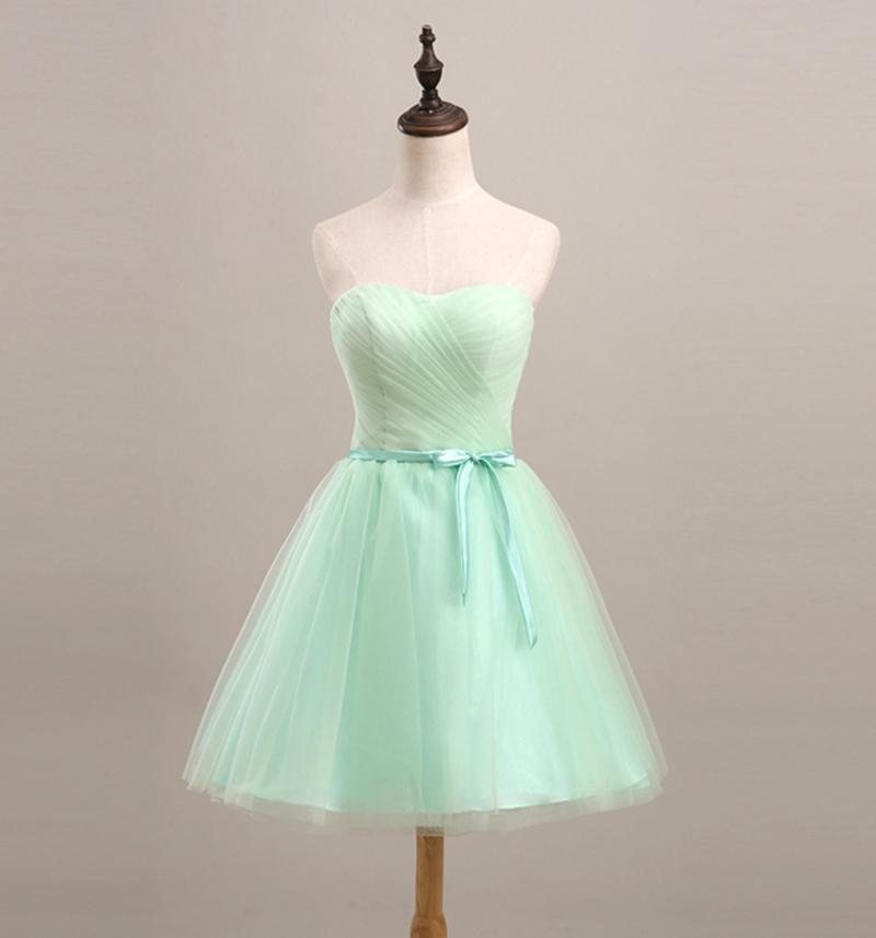 Short bridesmaid dress mint green 2016 elegant ball gown for Classy short wedding dresses