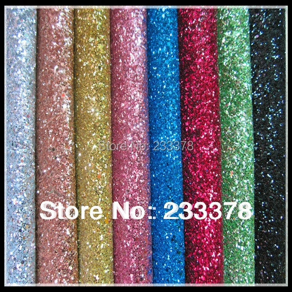(A001-3) Best Selling High Quality Sparlky Chunky Glitter Leather Glitter Fabric For Wallpaper Covering(China (Mainland))