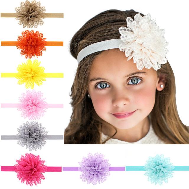 1 шт. девушки повязка на голову кружева цветок детские ободки ленты для волос девушка ...