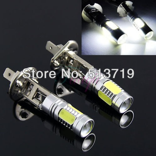 2014 New 2X H1 7.5W Super Bright Car LED Front Headlights High Power auto Fog Bulb Lights Lamp xenon White Packing Car Styling<br><br>Aliexpress
