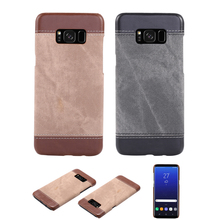Buy Samsung Galaxy S8 Cases luxury PU Leather Retro Canvas Phone Cover Samsung Galaxy S8 S8 Plus S8+ Case Capa Funda Coque for $5.51 in AliExpress store