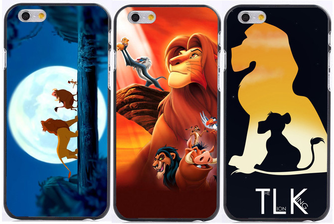 2015 the film The Lion King Simba print plastic Hard phone cases for iPhone 6 case 6s 6s plus 5 5s 5c 4s +free shipping(China (Mainland))