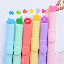 1pc Kawaii Highlighter Pen Candy Color School Markers Pen Can Stamp Different Pattern Stationery Office School Supplies Kid Gift(China (Mainland))