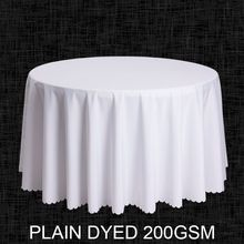 Big Size Polyester White Round Table Cloth Wedding Tablecloth Party Table Cover Square Dining Table Linen Rectangular Wholesale(China (Mainland))