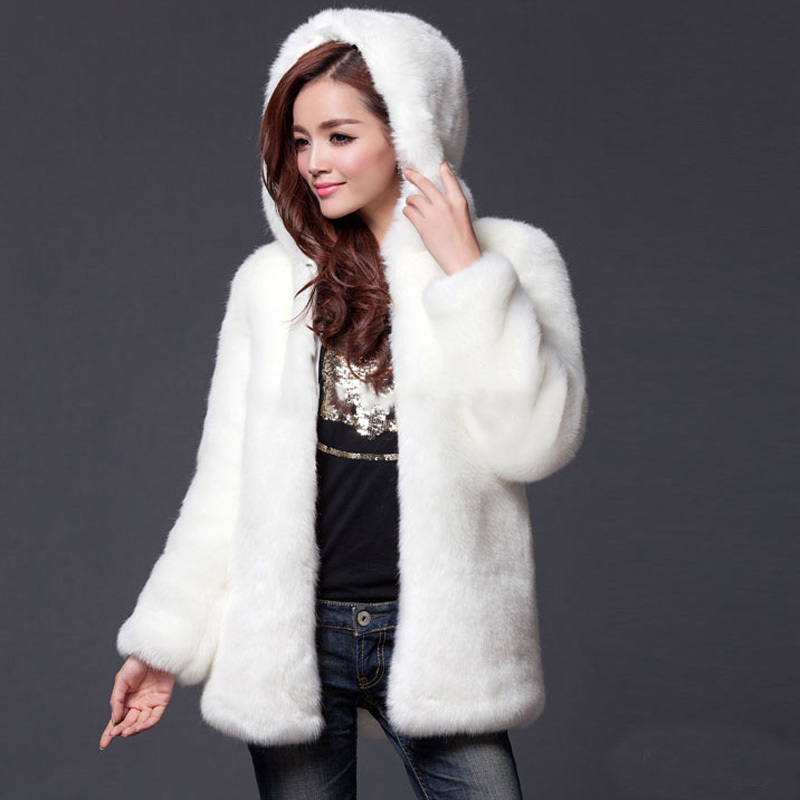 Faux Rabbit Fur Coat - Coat Nj