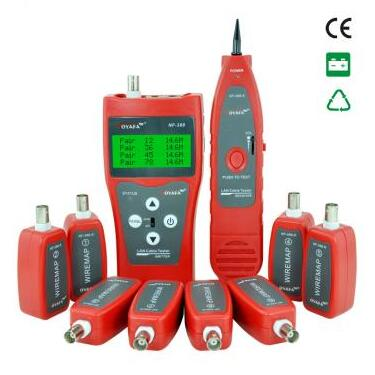 FREE SHIPPING HOT !!! NOYAFA NF-388 Network LAN Phone Cable Tester with 8 far-end test jacks, hunt 5E, 6E(China (Mainland))