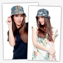 Top Quality 2015 Summer Bucket Hats For Women 3D Fashion Galaxy Printed Fishing Hats Casual Cotton