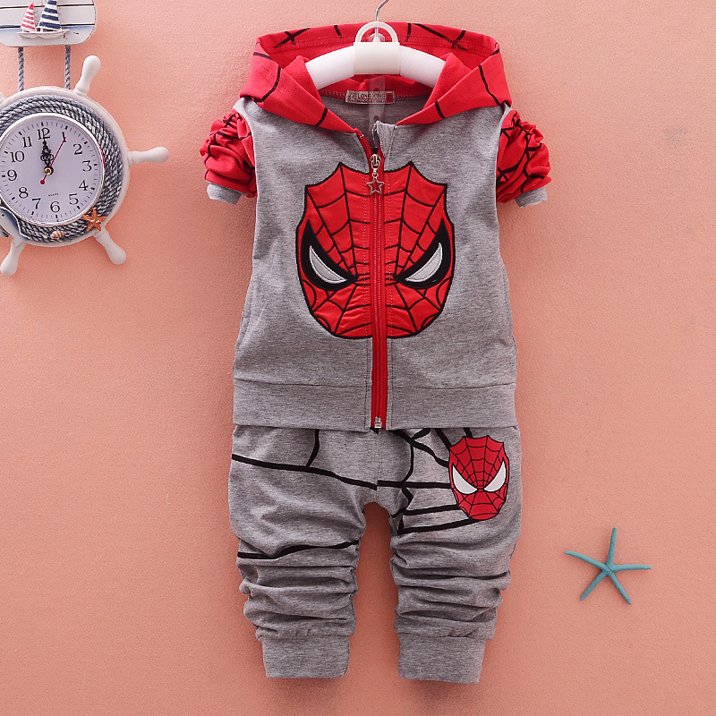 2016 Kids Clothes Boys Winter Clothes Set Autumn Toddler Boy Clothing Set Spiderman Kids Boys Clothes Children Sport Suits Pants