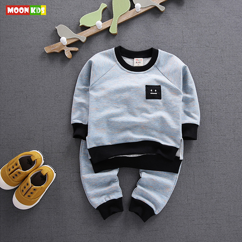 MOON KIDS Baby Cotton Sets Children Clothing Girl Boy Two-piece Autumn Clothes Set Casual Baby Infant Long Sleeve+Pants Clothing(China (Mainland))