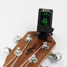 Chromatic Clip-On Digital Tuner For Acoustic Electric Guitar Bass Violin Ukulele New(China (Mainland))