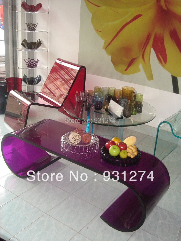 Colored Acrylic Coffee Table Modern Lucite Side Table Unfolded Perspex Sofa Table Living Room