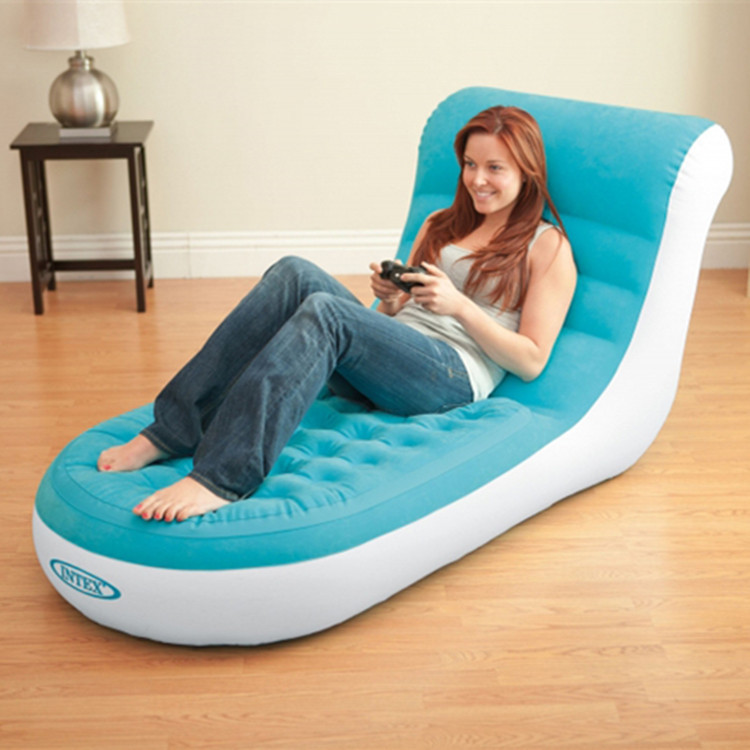Backrest Inflatable Chair Flocking Inflatable Sofa Bed Living Room Furniture Single Inflatable