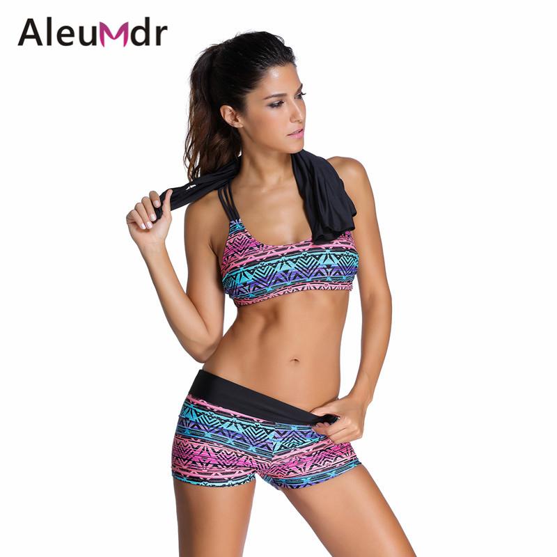 Tankini with shorts plus size push up Bikini Set 3 pcs maillot de bain femme women swimwear bathing suit swimsuit 41996