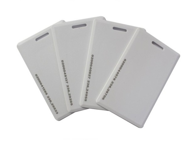 Free shipping 50pcs/lot 125K TK4100 white blank ID access card EM thick card(China (Mainland))
