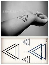 Harajuku tatuagens temporárias à prova d' água para as mulheres homens moda 3d triângulo design flash tatuagem autocolante Frete Grátis HC-107