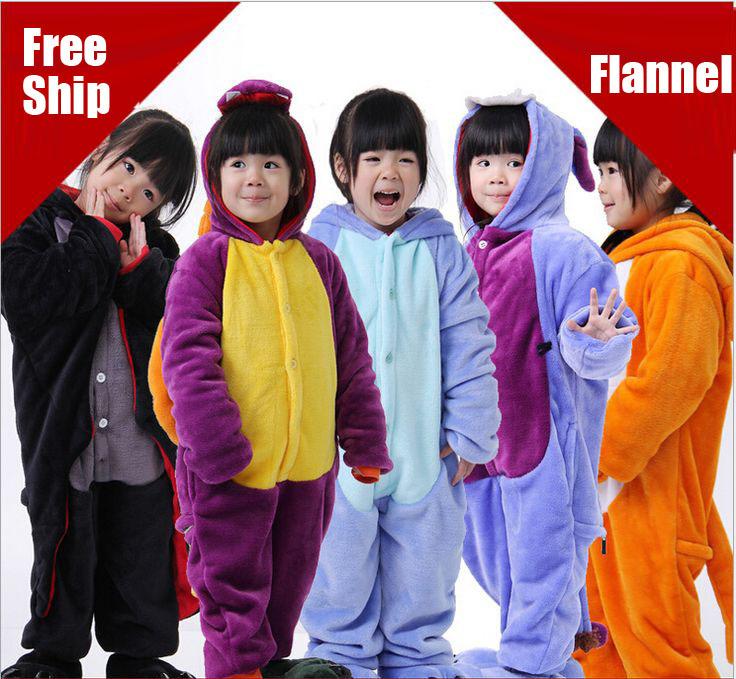 2015 children blanket sleepers autumn/winter kids clothes one piece cartoon flannel pajamas set cosplay custume for boys / girls<br><br>Aliexpress