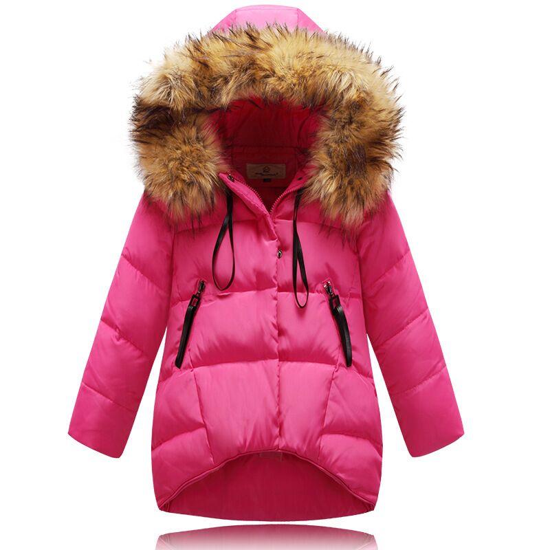 2015 Children Parka Girls Winter Coat Long Duck Down Thick Long Down Coat Baby Girl Overcoat Outerwear Coat Girls Jacket Winter
