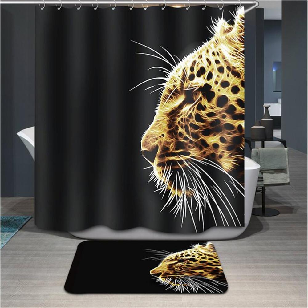 Cortinas De Baño Quality: Cortina de Ducha de Poliéster impermeable cortina de ducha baño de