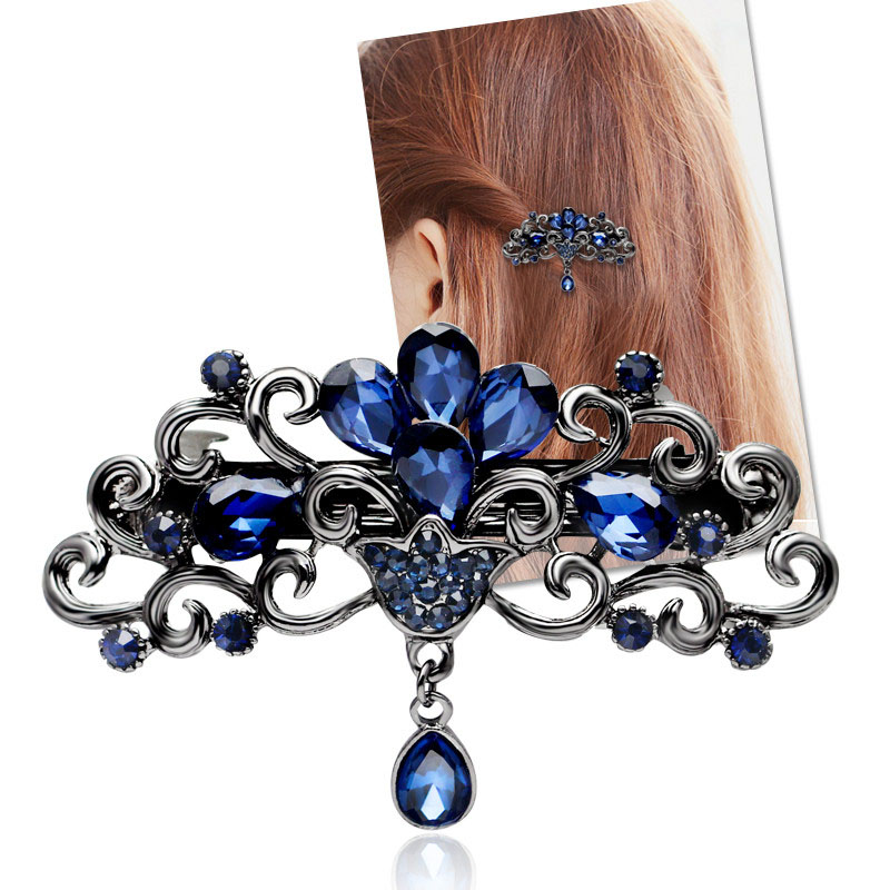 Fashion hollow hair clip for women luxuruous girls hair clips accessories trendy vintage hairs accessoires bow jewelry(China (Mainland))