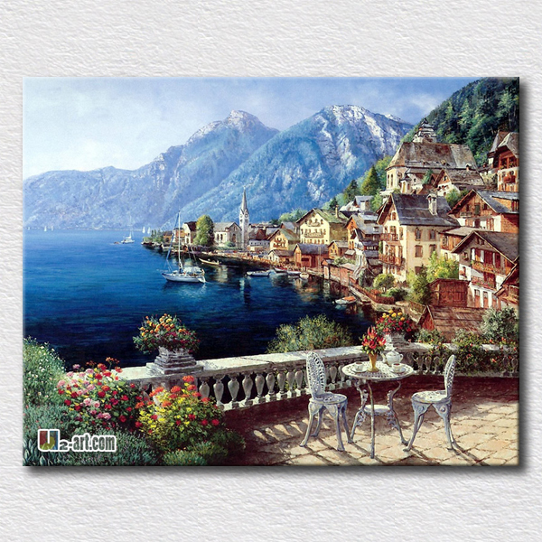 Beautiful scenery picture oil painting reproduction on canvas prints Landscape printing art hang on the room wall(China (Mainland))