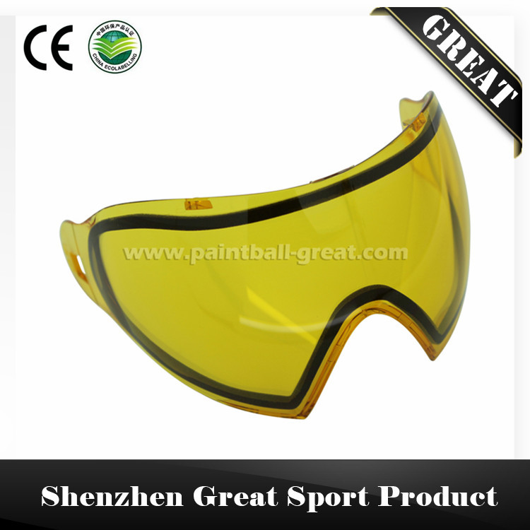 yellow color double lenses for great DYE I4 mask for paintball(China (Mainland))