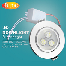 Special offer Ceiling lamp LED downlight Driver 110V 220V 3W 5W 7W 9W 12W 15W Recessed Spot light warm white Embedded - BTOC . Living store