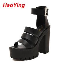 ankle strap sandals summer shoes platform sandals for women shoes high heels gladiator sandals women sandalias mujer 2016 D121