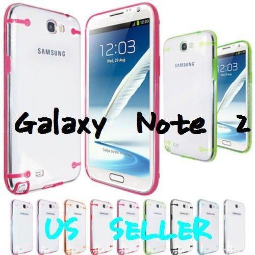 Hybrid Ultra-thin Clear HARD Case Cover Skin For Samsung Galaxy Note 2(China (Mainland))