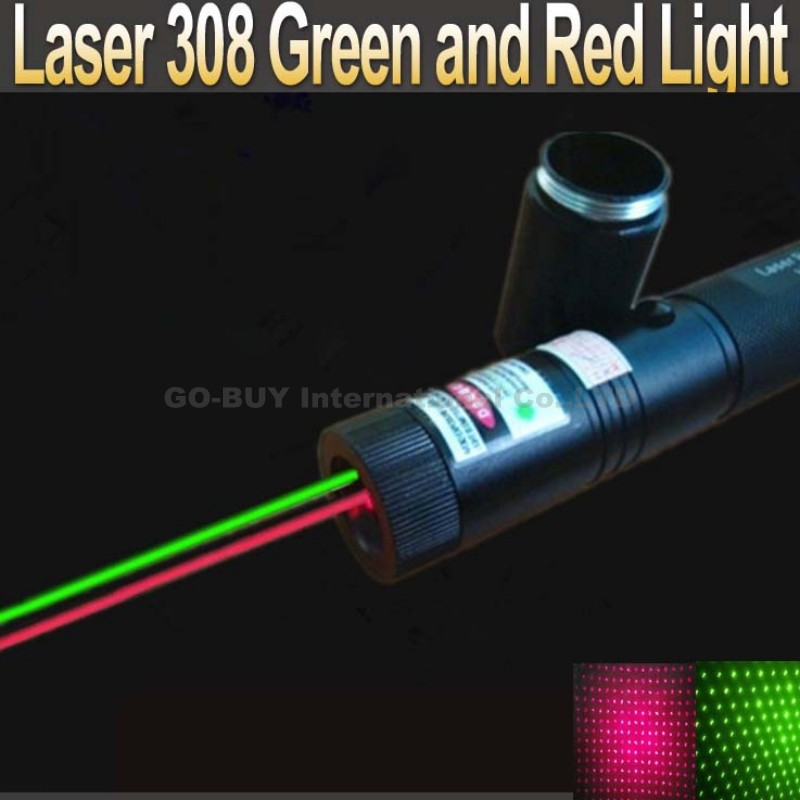 Laser pen 2 in 1 two-color red and green star 200mw laser pointer 308(China (Mainland))