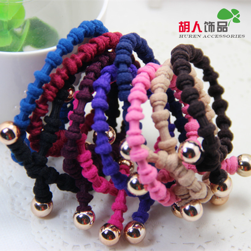 10PCS Fasion Lady Girl Ponytail Holder Scrunchy Hair Rope Elastic Rubber Band Womens Headwear Hair Accessory(China (Mainland))