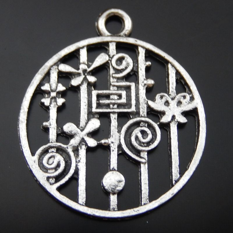 15PCS Antique Silver Alloy Garden Charm Pendant Jewelry Finding 24*29mm 39890(China (Mainland))