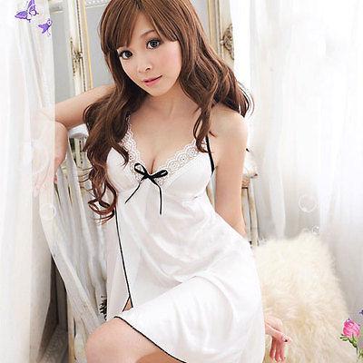 Women s Sexy Lingerie Lace Dress Underwear Black font b Babydoll b font Sleepwear G string
