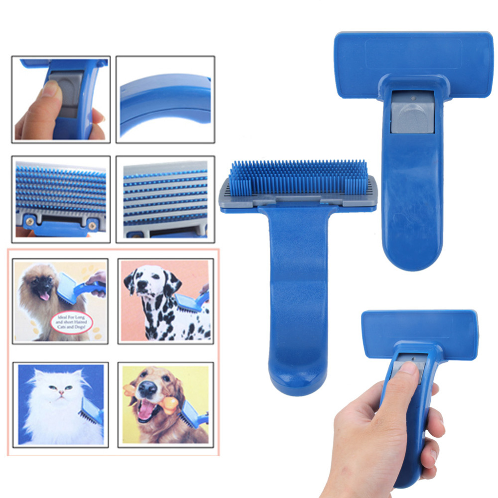 1Pc Pet Brush Combs Self Cleaning Pet Grooming Tools Puppy Dog Cats Hair Trimmer Grooming Massage Comb for Pets(China (Mainland))