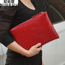 Buy Fashion crocodile women's clutch bag pu leather women envelope evening bag 2017 new female Clutches Handbag bolsa feminina purse for $6.89 in AliExpress store