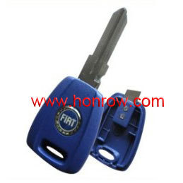 High quality Fiat transponder key blank, fiat key cover with blue color free shipping by HK Post(China (Mainland))