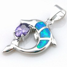 opal jewelry with cz stone;fashion opal pendant Mexican fire opal pendant The latest fashions OP265A