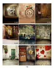 2014  free shipping fashion 10*20ft Photo wall, wall clock, personality, cabinets, Hanfeng indoor wedding background old TV