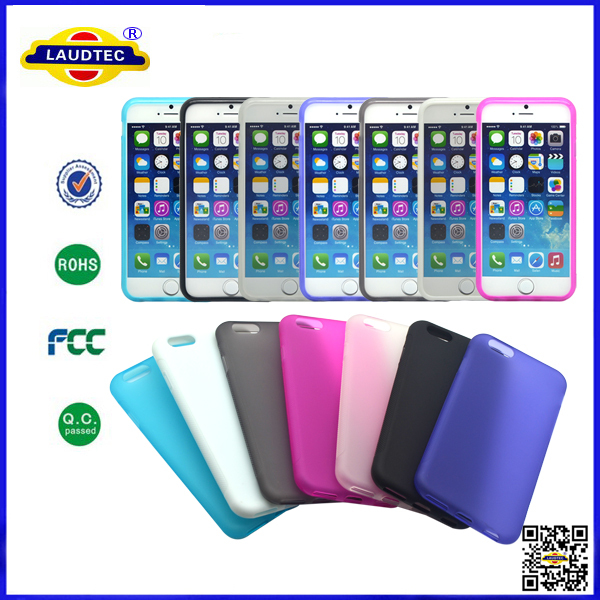 200pcs/lot tpu&pc matte gel case for iphone 6,full back mobile cover for iphone 6 laudtec(China (Mainland))