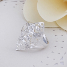 Hot Sell!Wholesale Sterling 925 silver ring,925 silver fashion jewelry ring,Multi Heart inlaid stone Rings R266