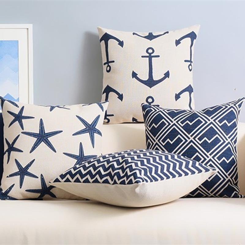 Achetez en gros bleu coussin lavande en ligne des for Taie d oreiller pour canape
