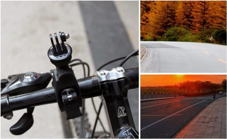 Go pro Accessories Bike Motorcycle Bicycle Handlebar Camera Mount Tripod Adapter for Gopro Hero 2 3+ 4 Xiaomi Yi Action Camera